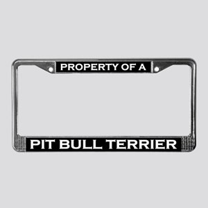 Property of Pit Bull Terrier License Plate Frame