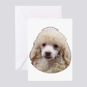 Miniature Poodle Greeting Cards (Pk of 10)