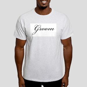 The Groom (Formal Font) Ash Grey T-Shirt