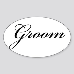 The Groom (Formal Font) Oval Sticker