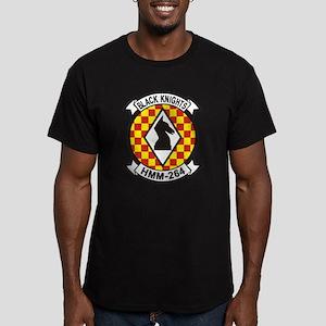 HMM-264 Black Knights Men's Fitted T-Shirt (dark)