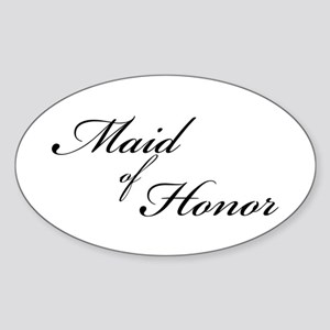 Maid of Honor (Formal Font) Oval Sticker