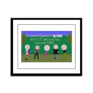 L.A. is for Flakes! Framed Panel Print