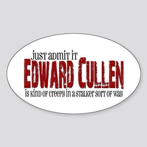 Edward Cullen - Creepy Stalker Sticker (Oval)