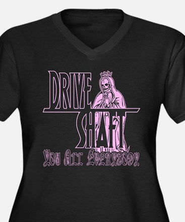 Drive Shaft LOST Black Women's Plus Size V-Neck Da