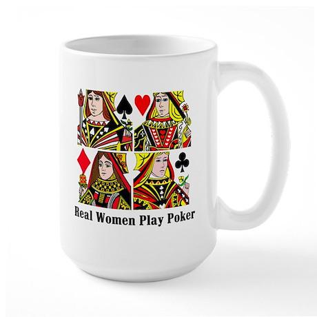 Real Women Play Poker Large Mug