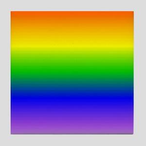 """Blended Rainbow Pride"" Tile Coaster"