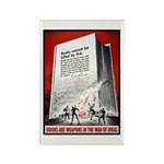 Books Are Weapons Poster Art Rectangle Magnet