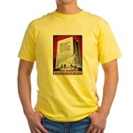 Books Are Weapons Poster Art Yellow T-Shirt