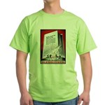 Books Are Weapons Poster (Front) Green T-Shirt