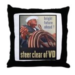 Steer Clear of VD Poster Art Throw Pillow