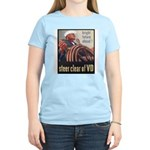 Steer Clear of VD Poster (Front) Women's Pink T-Sh
