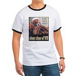 Steer Clear of VD Poster Art Ringer T