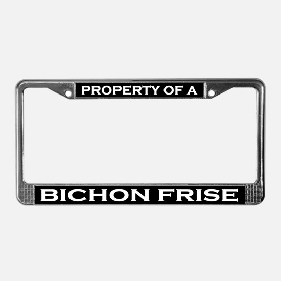 Property of Bichon Frise License Plate Frame