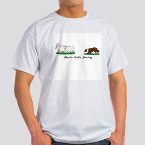 Border Collie Herding Ash Grey T-Shirt
