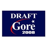 DRAFT GORE 2008 Rectangle Sticker