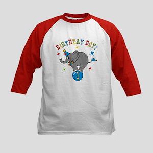 Circus Elelphant 1st Birthday Boy Kids Baseball Je