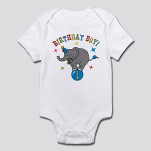 Circus Elelphant 1st Birthday Boy Infant Bodysuit