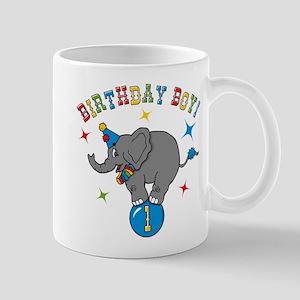 Circus Elelphant 1st Birthday Boy Mug