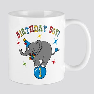 Circus Elephant 1st Birthday Boy 11 oz Ceramic Mug