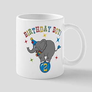 Circus Elephant 2nd Birthday Boy Mug