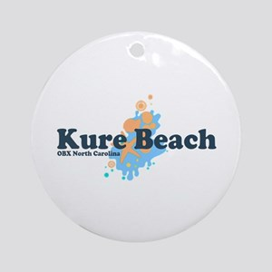 Kure Beach NC - Seashells Design Ornament (Round)