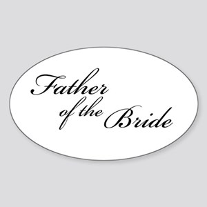 Father of the Bride (FF) Oval Sticker