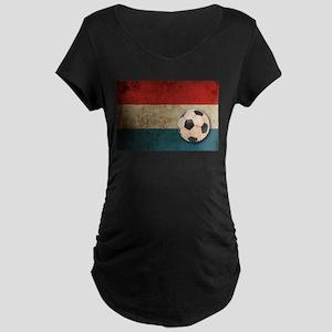 Vintage Netherlands Football Maternity Dark T-Shir