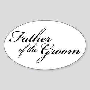Father of the Groom (FF) Oval Sticker