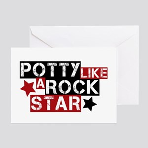 Potty Like A Rock Star Greeting Card