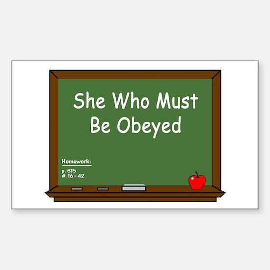 Teacher Chalkboard Sticker (Rectangle)