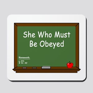 Teacher Chalkboard Mousepad