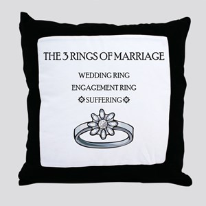 3 Rings of Marriage Wedding Gift Throw Pillow