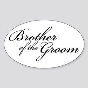 Brother of the Groom (FF) Oval Sticker