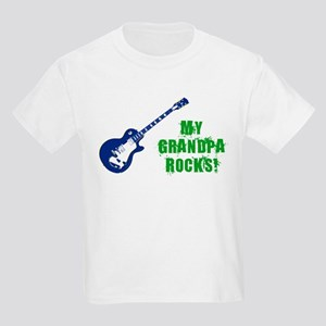 Rock On Grandpa! Kids Light T-Shirt