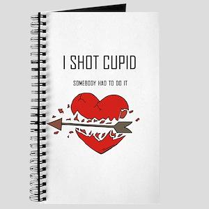 I Shot cupid Anti-Valentine g Journal