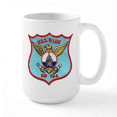 USS BLUE Large Mug
