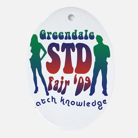 Greendale STD Fair Ornament (Oval)