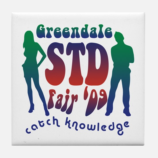 Greendale STD Fair Tile Coaster