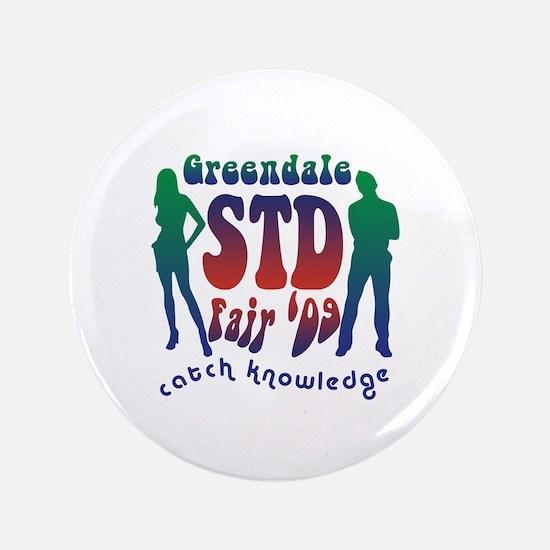 """Greendale STD Fair 3.5"""" Button"""