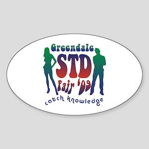 Greendale STD Fair Sticker (Oval)