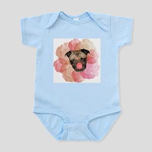 Pug Roses Infant Creeper