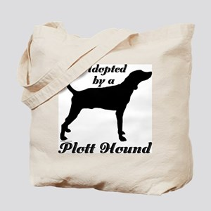 ADOPTED by Plott Hound Tote Bag