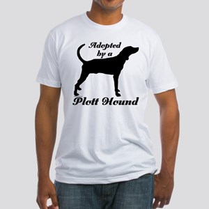 ADOPTED by Plott Hound Fitted T-Shirt
