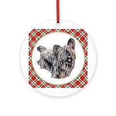 Skye Terrier Christmas Ornament (Round)