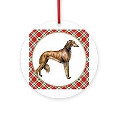 Saluki Christmas Ornament (Round)