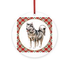 Alaskan Malamute Christmas Ornament (Round)