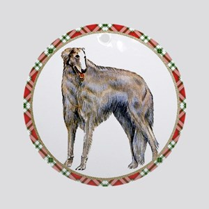 Borzoi Christmas Ornament (Round)