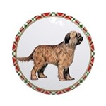 Briard Christmas Ornament (Round)