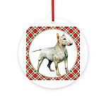 Bull Terrier Christmas Ornament (Round)